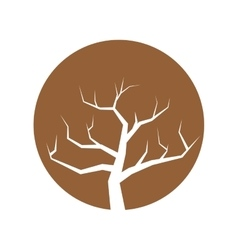 tree branch hand drawing isolated icon vector image vector image