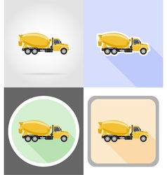 truck flat icons 11 vector image vector image