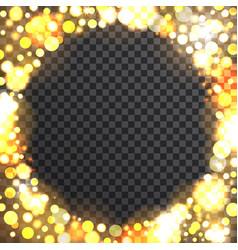 bokeh round frame on transparent background vector image