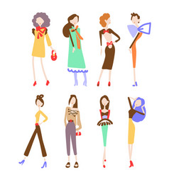 fashion women collection vector image