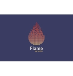Flame - logo concept Red fire vector image vector image