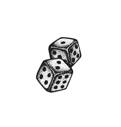 hand drawn dice vector image vector image