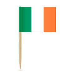 ireland flag toothpick 10eps vector image vector image