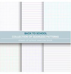 seamless patterns of sheet of notebook vector image