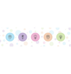 5 imagination icons vector