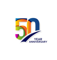50 years elegant anniversary celebration template vector