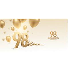 98th anniversary celebration background vector