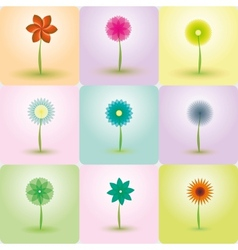 abstract flowers backgrounds vector image