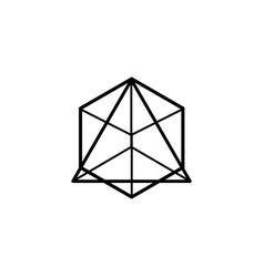abstract geometric figure vector image
