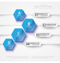 Abstract polygons background infographic template vector
