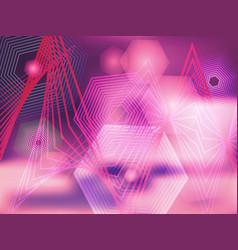 abstract purple background with rhombuses vector image