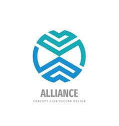 Alliance business cooperation logo design vector
