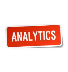 Analytics square sticker on white vector
