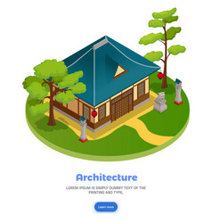 Asian architecture concept vector