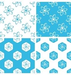 Atom patterns set vector