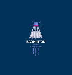 badminton club logo vector image