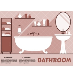 Bathroom interior flat design vector image