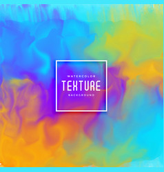 beautiful watercolor paint flowing texture vector image