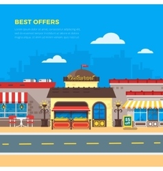 Best Offers Cafe And Restaurant Flat vector