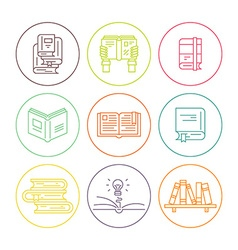 Books in circles vector image
