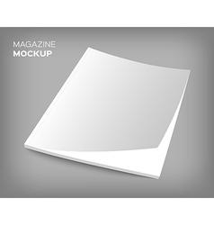 Brochure cover mockup on gray vector