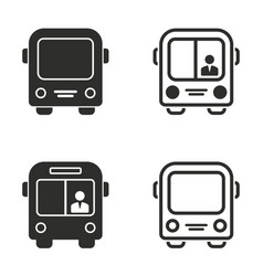 Bus icons set vector