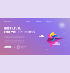 Business landing page template vector