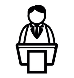 Business on podium icon vector