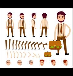 Cartoon man constructor isolated vector