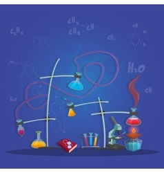 Chemical Experimental Poster vector image