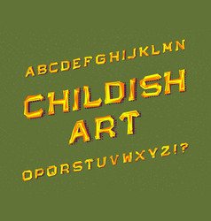 childish art typeface graffiti font isolated vector image