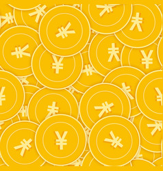 Chinese yuan coins seamless pattern vector