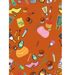 Cosmetic seamless background vector