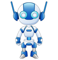 cute cartoon robot isolated on white background vector image