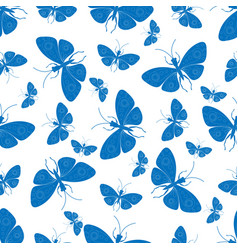 decorative background with butterflies vector image
