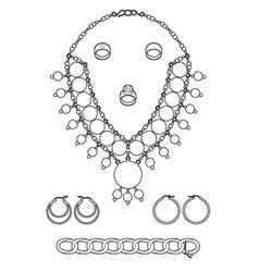 Design of my jewelry vector