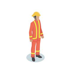firefighter man in uniform vector image