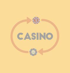 Flat icon on stylish background casino chips vector