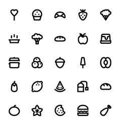 Food and Drinks Icons 6 vector