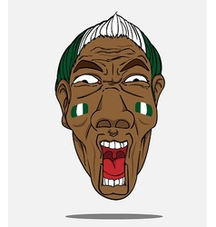 Football fan from Nigeria vector