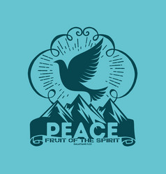 fruit of the spirit peace vector image