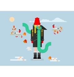 Girl in coat vector image