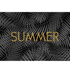 Gold Summer Poster Design vector