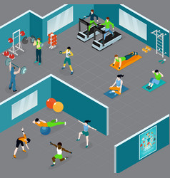 Gym fitness sports composition vector