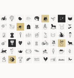 Hand drawn elements and doodles vector