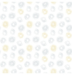 Hand drawn seamless texture with gold dots vector