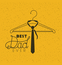 happy fathers day with necktie hanging vector image