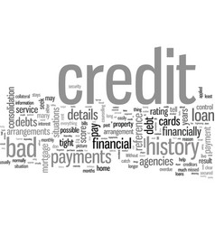 how to repair a bad credit history vector image