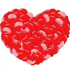 jellybean heart illustration vector image