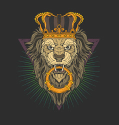 king lion vector image